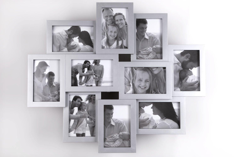 Amazon.de: Bilderrahmen (10 Fotos), Collage, Weiss / Schwarz ...