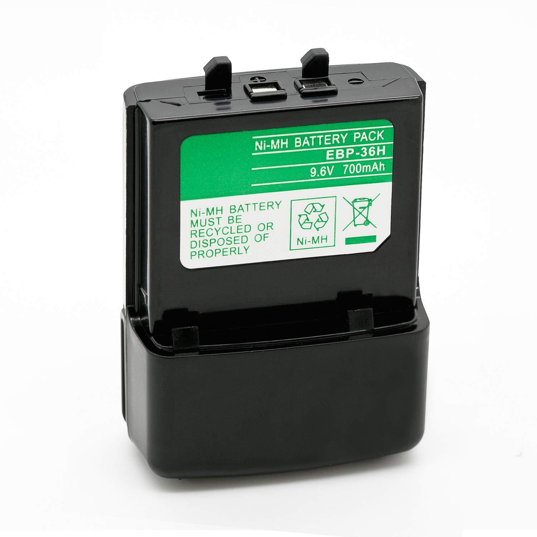 ExpertPower 9.6v 700mAh NiMh Radio Battery for Alinco EBP-36 EBP-36N DJ-190//T//D//H DJ-191//T//HP//TH DJ-490 DJ-491 DJ-G5//T//TD//TH//TY DJ-X10 DJ-X2000