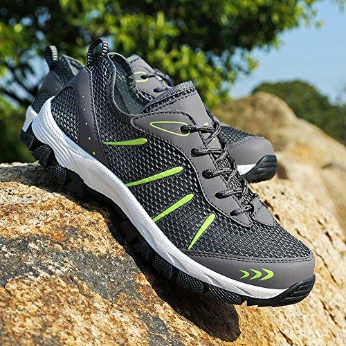 Sneakers Fitness Athlétique Basket Gym Chaussures Courtes Aitaobao de Respirantes Chaussures Homme Sports Baskets Course Tennis Gris de Outdoor Running 66qRpXa