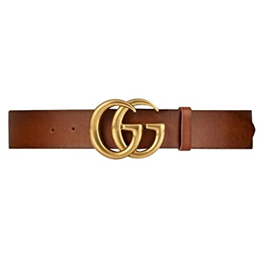 778a093c0c495 GG Gucci Replica Belt for Women Gold Buckle Brown Leather Fake Replicas  Belts Womens Faux (