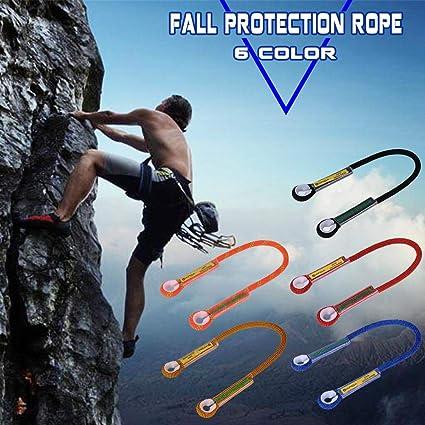 100cm Orange Rock Climbing Mountaineering Fall Protection Rope Sling Lanyard