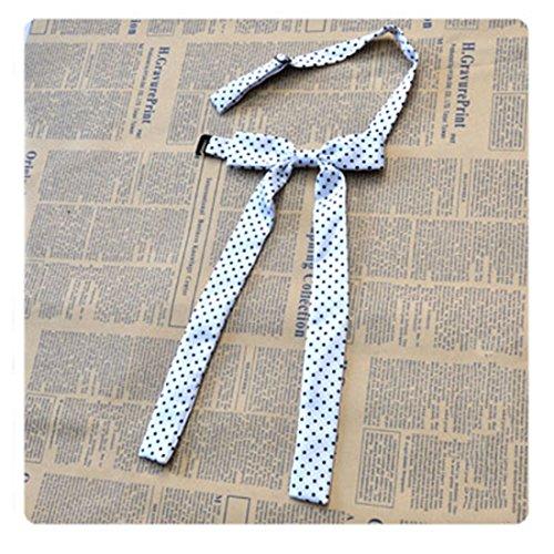 URSFUR Women Pre Tied Ribbon Bow Tie Ladies Shirt Bowknot - black (Point Collar Tie)