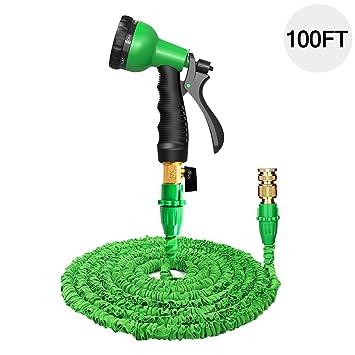 100 ft garden hose. 100ft garden hose pipe set expandable - eloki 3 times expanding flexible magic lightweight pipes 100 ft