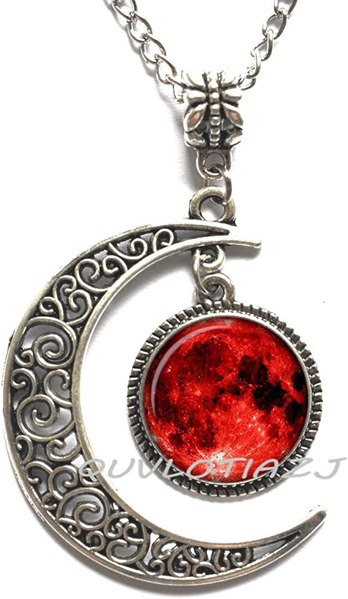 Garnet Pendant, Sterling Silver Pendant Red Dragon Pendant Wire Wrapped Jewelry Handmade