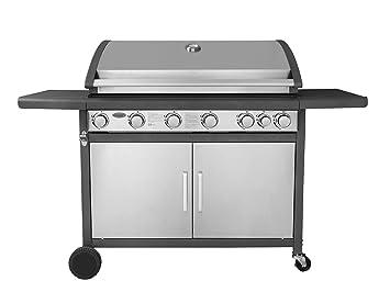 Abdeckhaube Für Gasgrill Jamie Oliver : Traedgard® gasgrill grillwagen bbq indio 700 edel 6 brenner 1