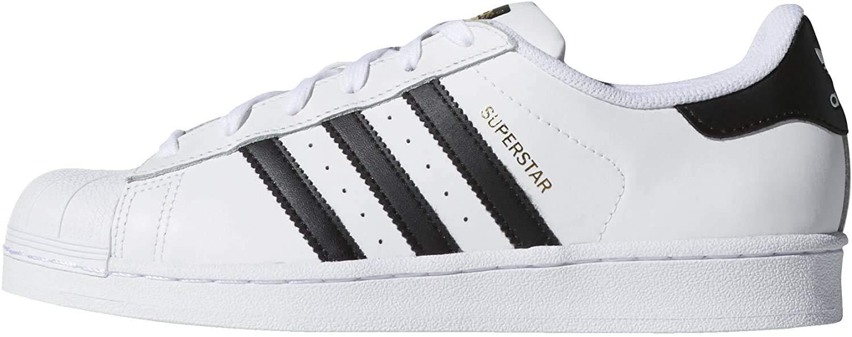 adidas Originals Superstar, Basket Femme, Blanc Noir, 43.5