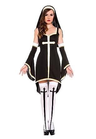 Erwachsene Damen Eingetroffem Sexy Nonnenkostüm für Halloween ...