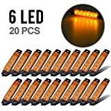 "Partsam Set/20 3.8"" Amber Clearance light Trailer RV Boat Side Marker Indicators Decorative"