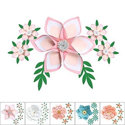 One Phoenix Diy Pearl Cardstock Crafts Handmade Paper Flowers For Baby Room Wall Decor Birthday Party Decoration Unicorn Theme Ornament 4 X 4