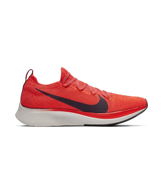 Nike Zoom Fly Flyknit Men's Running Shoe Bright Crimson/Black-Total Crimson Size 7.5 by Nike (Image #3)