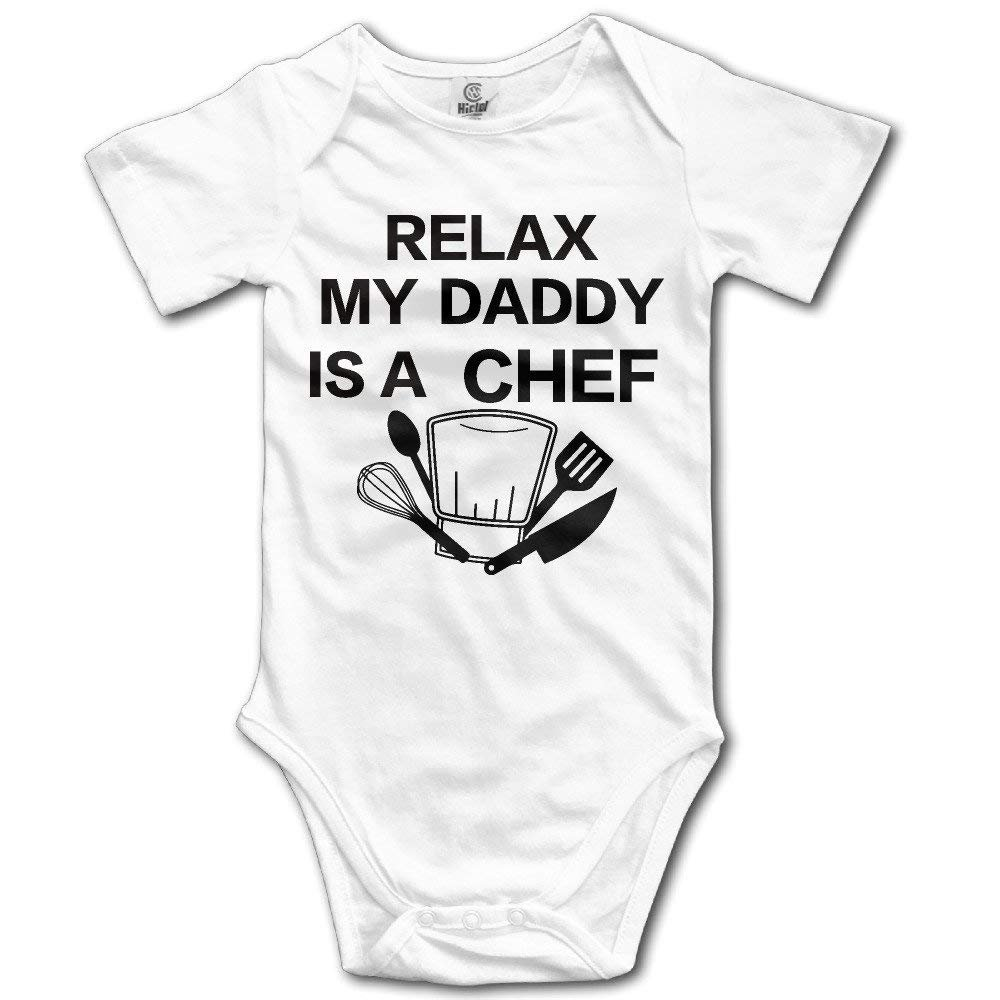 493ebcdee Amazon.com  Relax My Daddy Is A Chef Baby Boys  And Girl s Bodysuits ...