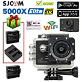 Boblov SJCAM SJ5000X Elite Action Camera 4K 1080P 24 Fps WiFi Waterproof 170°Wide Angle Lens 12MP SONY IMX078 Gyro AV or HDMI Out OSD Enabled Sports Helmet Camera (Camera+Battery+USB Dual Charger)