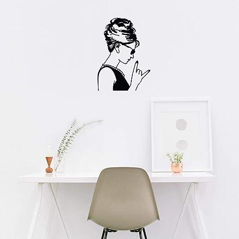 Audrey Hepburn wall art sticker Home Lounge bedroom hallway