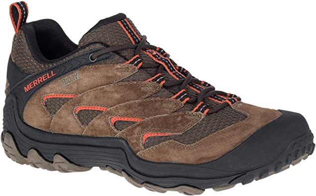 Merrell Cham 7 Limit Mens Brown Lace Up Hiking Walking Trainer Shoes