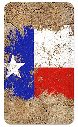 Amped Slim 5000 Portable Charger, Ultra Slim 5000 mAh External Battery with built in micro USB cable, Pocket Friendly Power Bank, Perfectly designed for Smartphones - Vintage Texas Flag - Texas Flag Power Bank