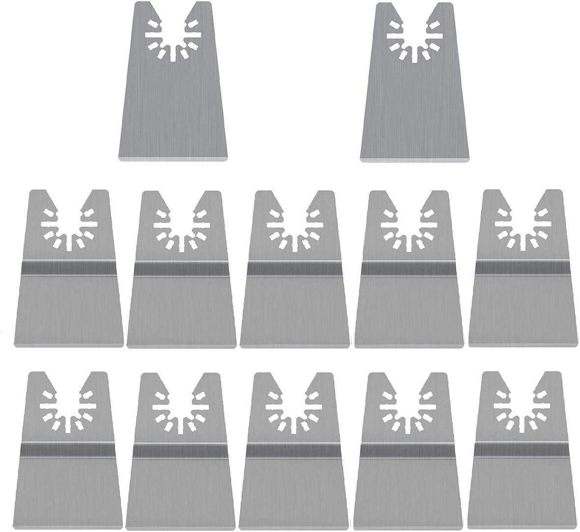 TONGXU 12PCS Juego de Cuchillas Oscilantes Acero Inoxidable Hojas de Sierra Flexibles R/ígidas Accesorios para Herramienta El/éctrica de Carga R/ápida