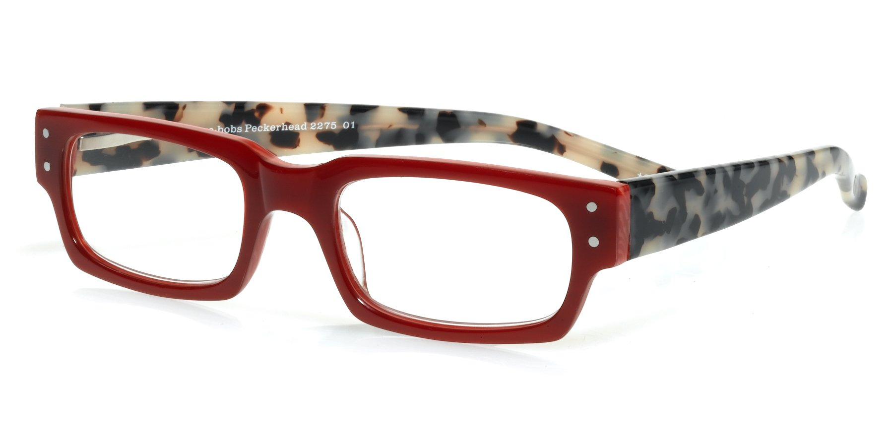 eyebobs Peckerhead, Red and Black/White Tortoise Reading Glasses - SUPERIOR QUALITY- because your eyes deserve the good stuff by EyeBobs