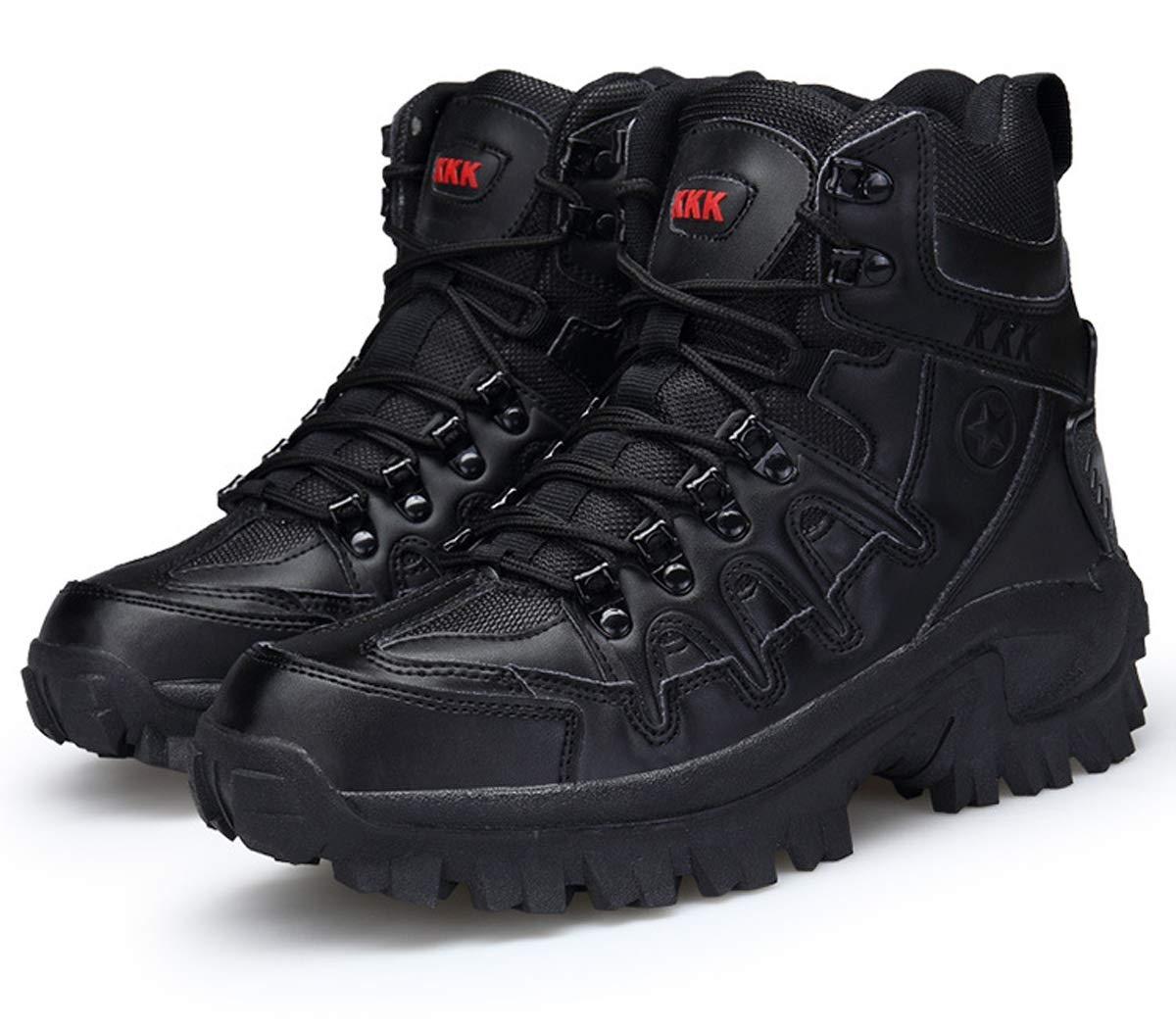 Adong  Herren Training Stiefel Wasserdichte Schuhe High Rise Wanderstiefel Bergsteigen Stiefel Non Slip Atempause Outdoor-Schuhe,B,41EU