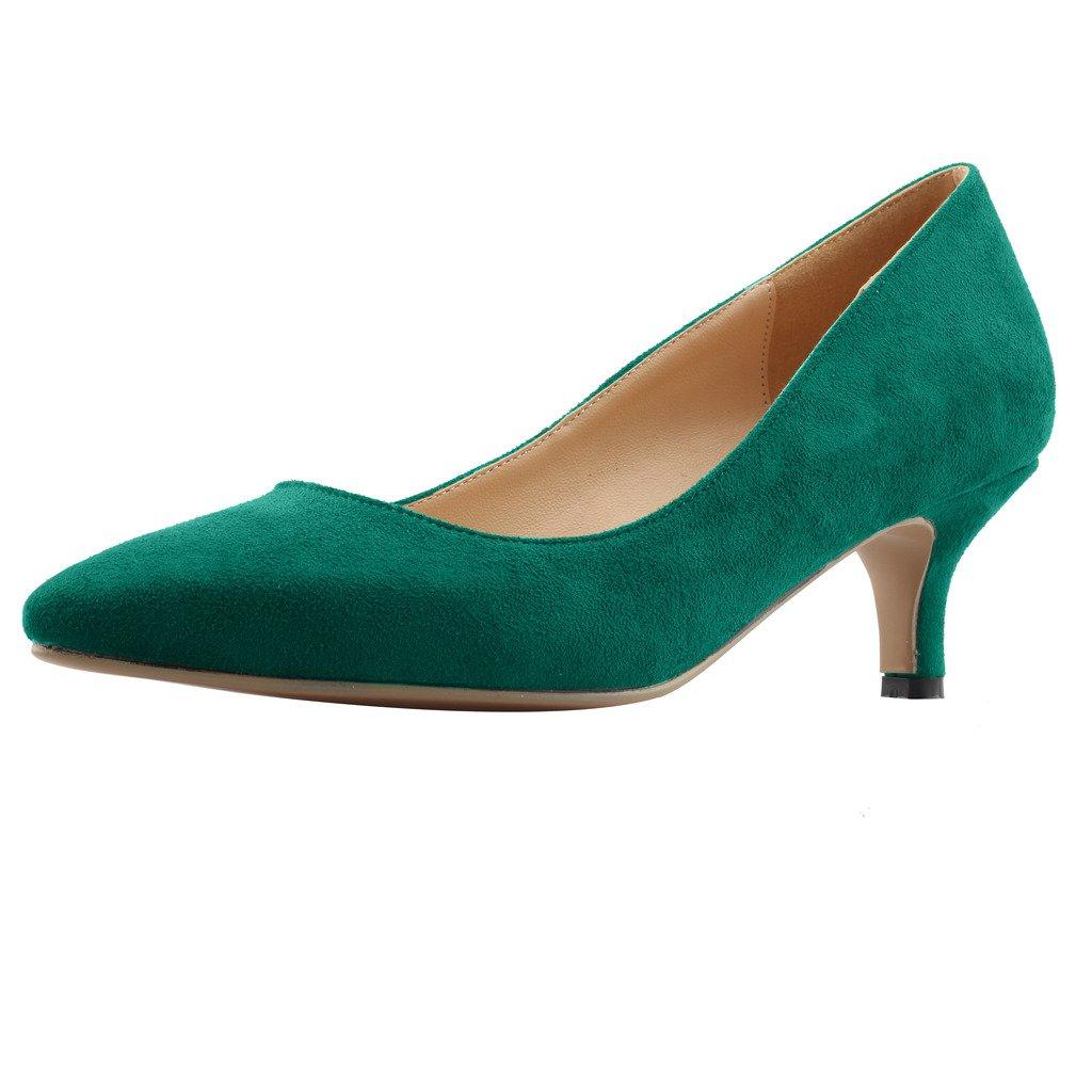 Calaier  Cahalfway, Damen - Pumps, grün - Damen Grün B - Größe: EU 39,5 - 7a7b5b