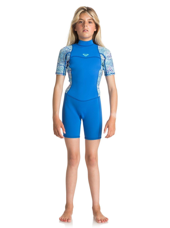 Roxy 2018ジュニアSyncroシリーズ2 mm Flatlock Shorty Wetsuit SeaブルーII ergw503004 16 Years  B077P54349