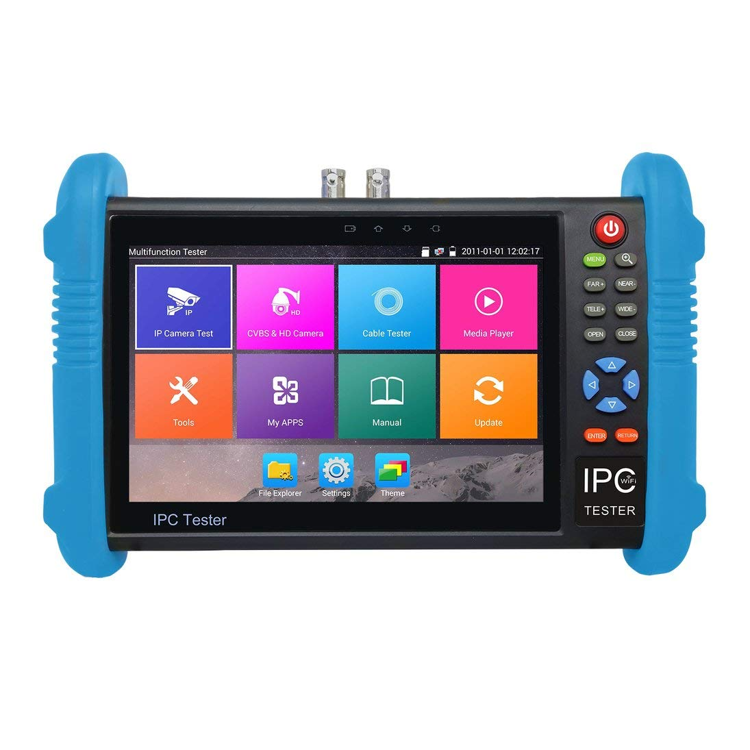 Baynne 7 inch IPS Touch Screen H.265 4K IPC-9800 Plus IP Camera Tester CCTV CVBS Analog Tester Built in WiFi Dual Window Tester