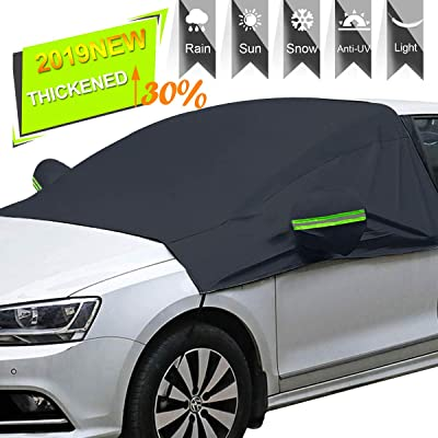 Windshield Snow Cover with Side Mirror Covers, Mirror Snow Covers Protects Windshield and Wipers from Weatherproof, Rain, Sun, Frost, Extra Large Size Fits for Most Vehicles, Cars Trucks Vans and SUV: Automotive