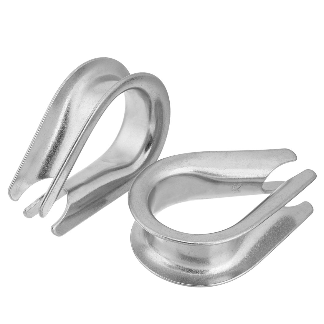 uxcell Stainless Steel Thimble for 1.02 inch (26mm) Diameter Wire Rope 2pcs