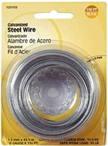 The Hillman Group 123105 Galvanized Steel Wire, 110-Feet