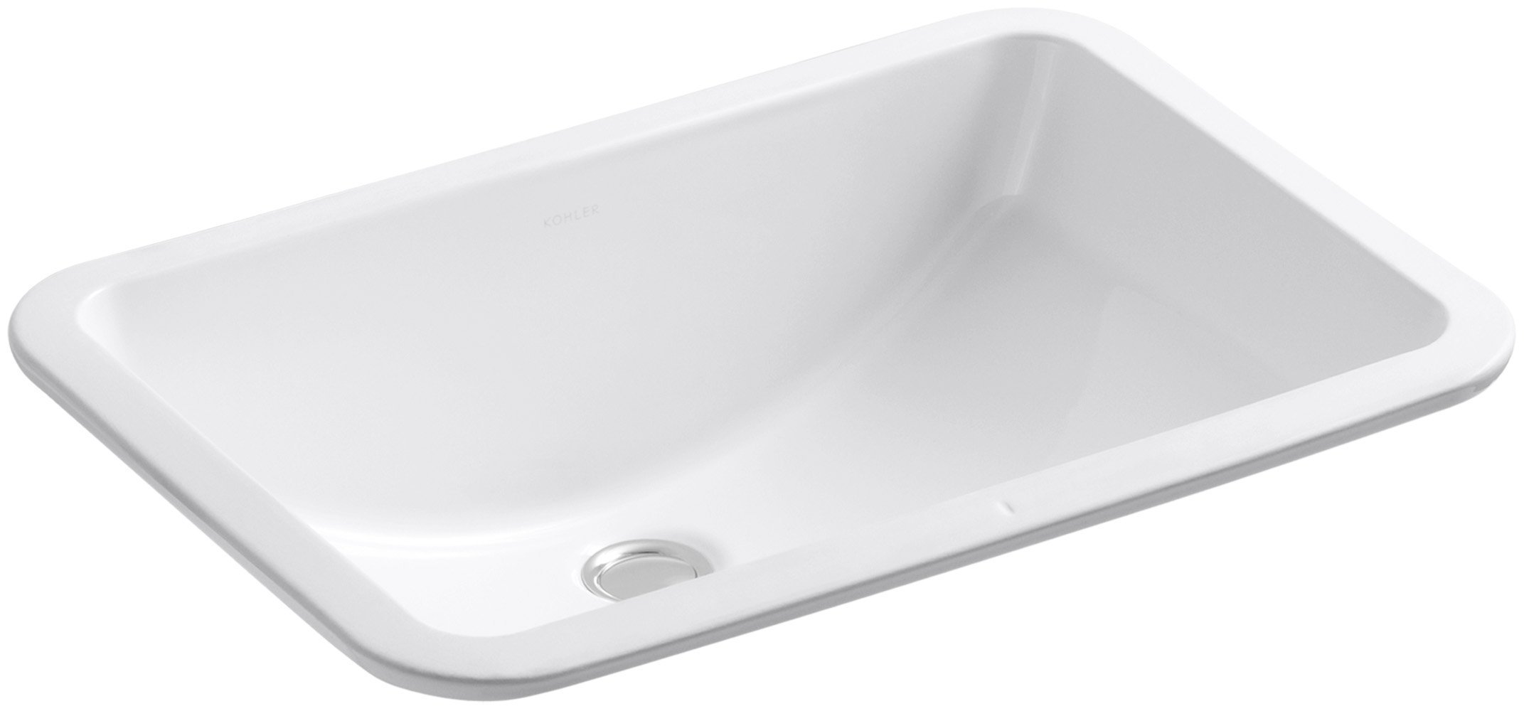KOHLER K-2214-0 Ladena Undercounter Bathroom Sink, White by Kohler