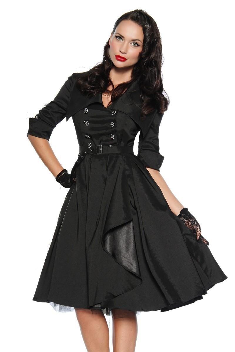 Chic star Rockabilly-Kleid Kleid, Gürtel schwarz
