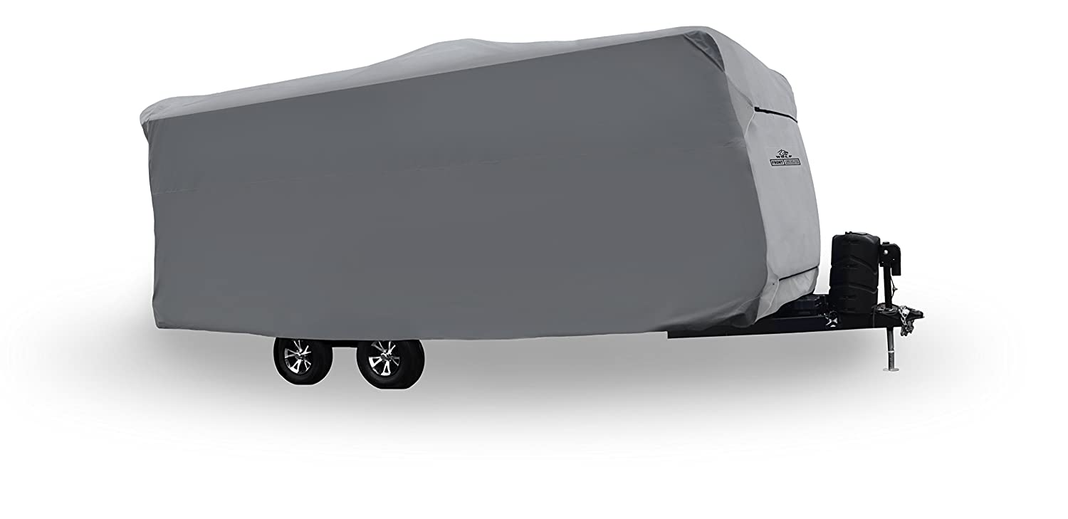 """Wolf by Covercraft CY31039 Travel Trailer RV Cover 15'1"""" - 18' , Gray"""