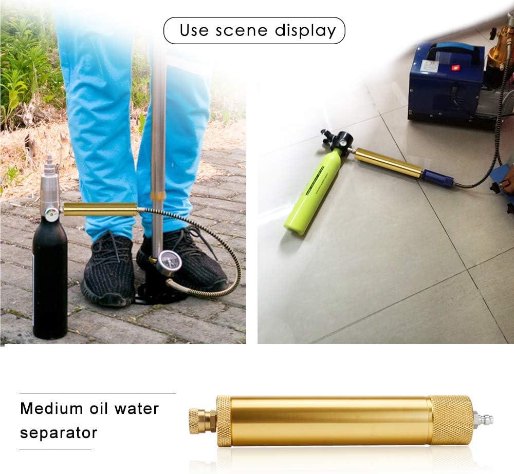 MENGS Mittel 30Mpa PCP Luftkompressor Filter Feuchtigkeit Wasserabscheider /Öl-Wasser Abscheider Anzug f/ür Kompressor//Pumpe
