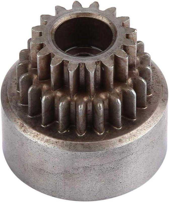 Campana de Embrague RC, 02023 Campana de Embrague de Metal (Engranajes Dobles) para HSP 94122 Nitro 1/10 Coche Partes de Accesorios de Veh¨ªculo de Deriva