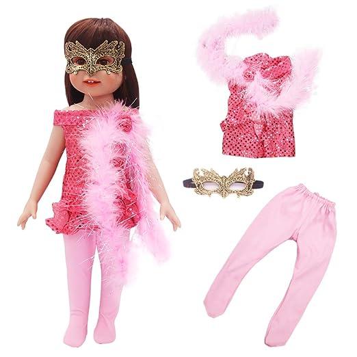 ACHICOO - Traje de muñeca con pantalón y máscara para muñecas de ...