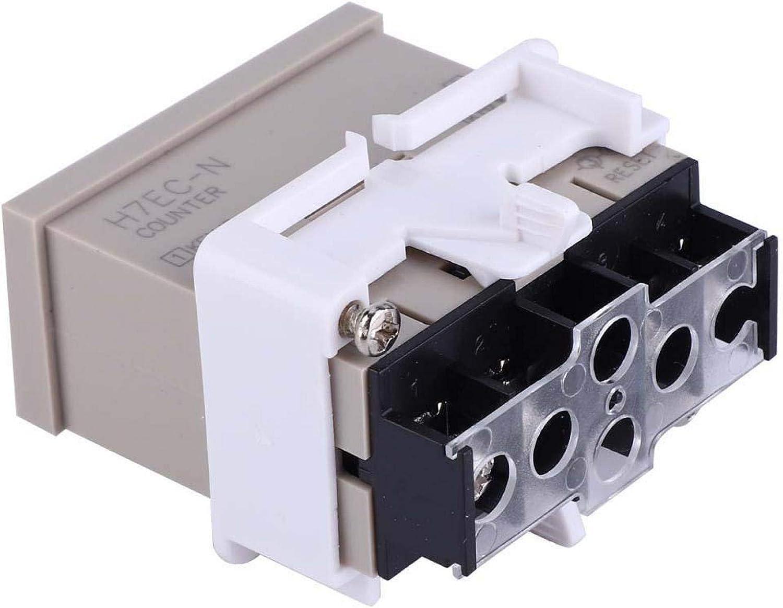 KUIDAMOS H7EC-N Digital Electrical Counter,Without Input Voltage Digital Electrical Counter Totalizer with 8-gigit LCD Display