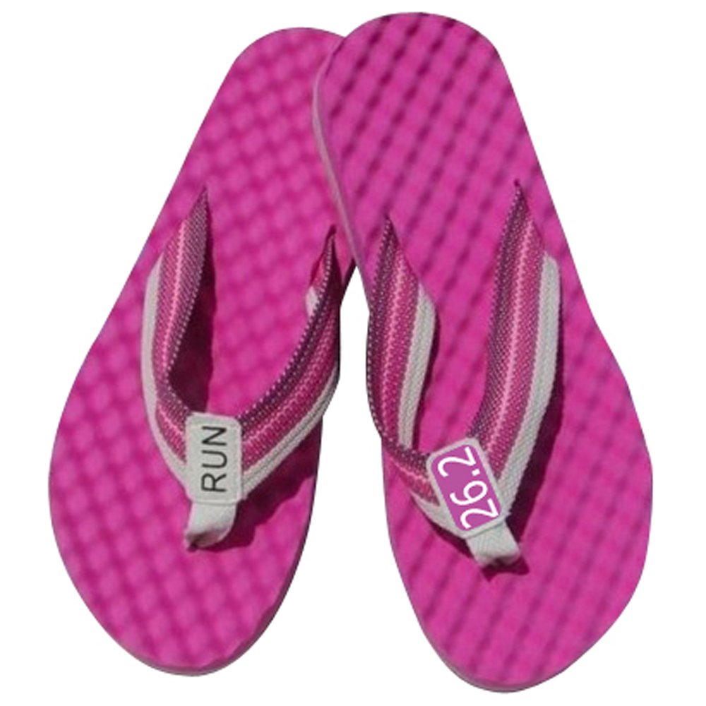 RunningontheWall Recovery Sandals, Running Flip Flop, Massaging Post-Run Footwear B071FFVHKC Large|Pink-26.2