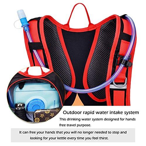 18L Fahrrad Rucksack Wasserdicht Fahrradrucksack Leichter Outdoor Sportrucksack MTB Reiten Rucksack Hydratation kompatibel für Damen und Herren mit Regenschutz