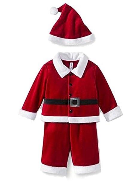 Amazon.com: Infant Boys Girls Santa de terciopelo rojo traje ...