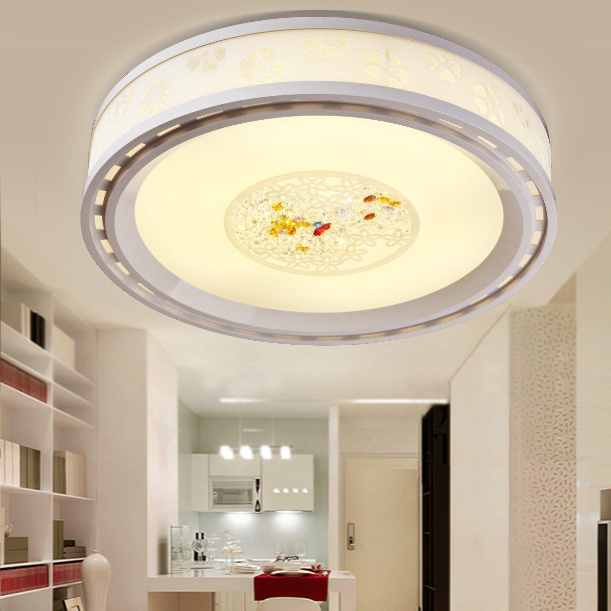 BLYC- Einstellbare Licht/LED Decke Lampe Schlafzimmer Esszimmer Crystal romantische moderne minimalistische kreisförmige Leuchtlampen 500 * 500mm