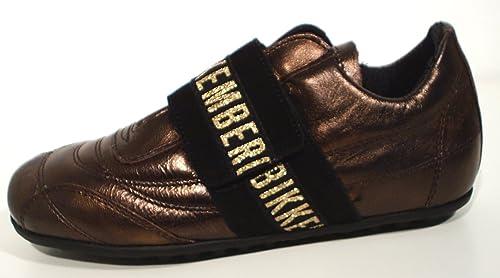 Bikkembergs - Zapatillas de cuero para niña dorado bronce 31: Amazon.es: Zapatos y complementos