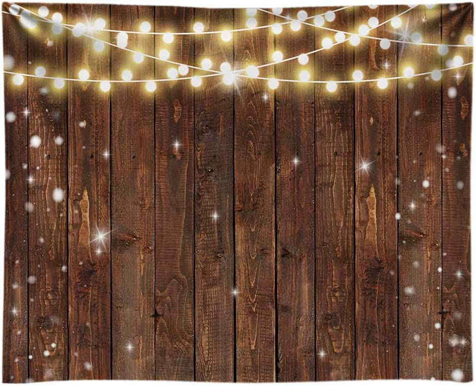 Funnytree 10x8FT Durable Soft Fabric Rustic Glitter Wood Photography Backdrop for Wedding Party Fuax Wooden Texture Background Birthday Bridal Shower Graduation Banner Supplies Photo Booth Washable