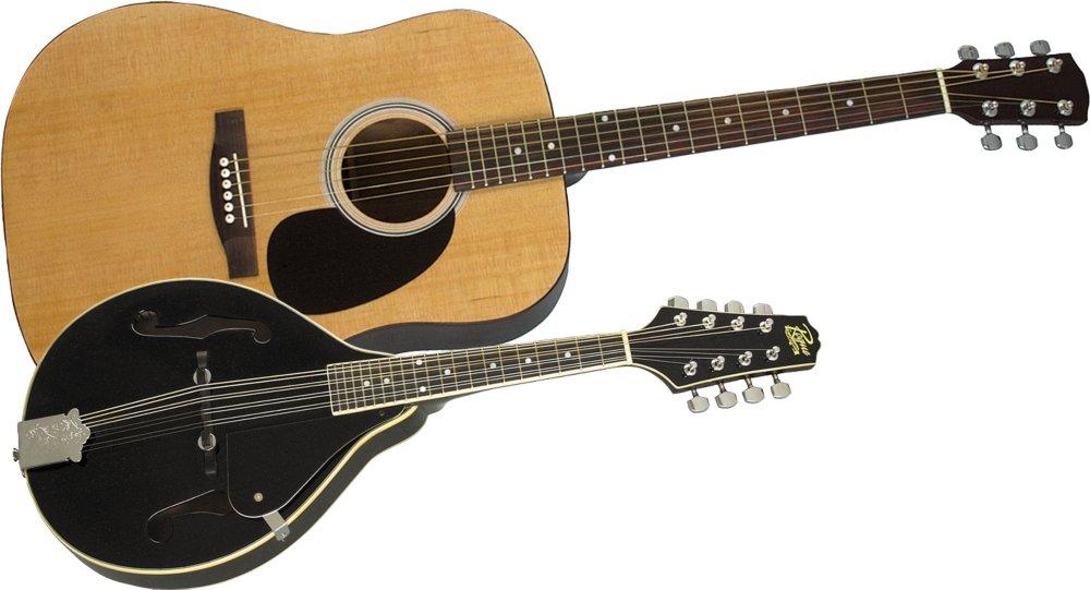 Rogue アコースティックギター and Mandolin Pack Natural Black アコースティックギター アコギ ギター (並行輸入) B0064BJHYE