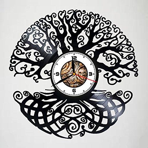 Magic Tree - Design - Handmade Vinyl Record Wall Clock - Artwork gift idea for birthday, christmas, women, men, friends, girlfriend boyfriend and teens - living kids room nursery