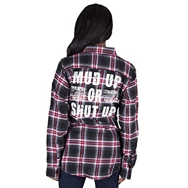 7d07a232 Image Unavailable. Image not available for. Color: Country Girl Women's Mud  Up Red Flannel Shirt