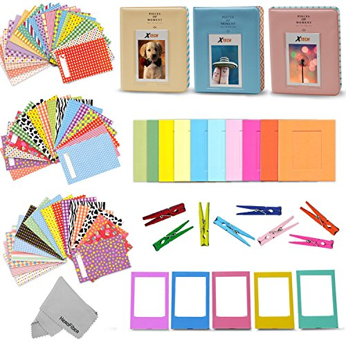 Xtech FujiFilm Instax Mini 9/8 ACCESSORIES KIT f/ Fujifilm Instax MINI 9 / MINI 8 Includes: 3 Photo Albums + Colorful Paper / Plastic Frames + 60 Colorful Sticker - Kit Fuji Accessory