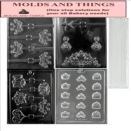 (Princess Kit chocolate candy mold with Copyrighted Chocolate Molding Instructions)