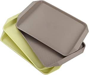 Obston Plastic Fast Food Trays for Eating, 17