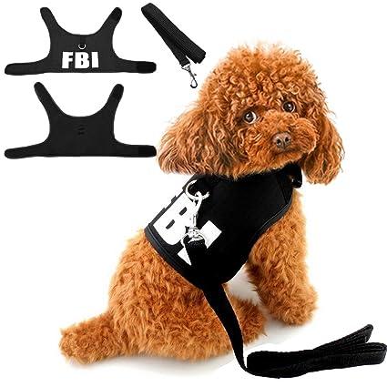 Amazon Com Misula Cute Fbi Mesh Padded Dog Harness Cat Small Dog