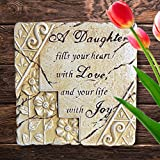 Banberry Designs Daughter Garden Stone - Stepping Stone with a Loving Daughter Saying Poem - 7 1/2'' X 7 3/4''