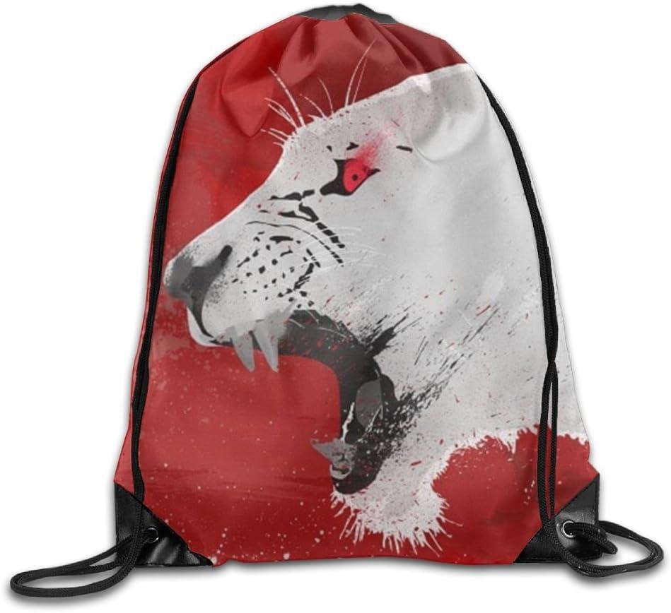 Lioness Drawstring Backpack Rucksack Shoulder Bags Training Gym Sack For Man And Women